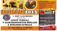 V sobotu 15. júna 2013 sa v Dart clube uskutoční v poradí už 14. veľký letný turnaj Leto Cup 2013 v eleketronických šípkach a v stolnom futbale.